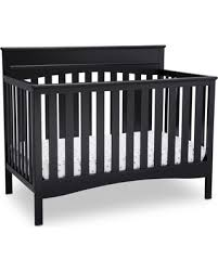 amazing deal on delta children skylar 4 in 1 convertible crib black