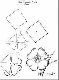surprising four leaf clover outline clip art with four leaf clover
