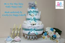 tiny tatty teddy nappy cake 3 tier coochy coo nappy cakes
