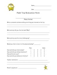 field trip self assessment form for elementary students get it