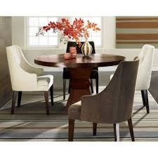 Dining Room Chairs Set Of 4 Brown Wooden Dining Table And 4 Curved Arm Chairs
