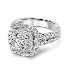cushion halo engagement rings jean jewelers