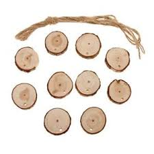 10x unfinished wood slices with log discs wood ornaments