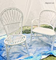 Can You Paint Wicker Chairs How To Paint Wicker The Easy Way Shoppe No 5