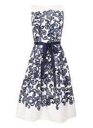 bhs prom dresses navy white lace print prom dress dresses bhs clothes