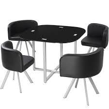 table avec 4 chaises table et chaises mosaic 90 noir