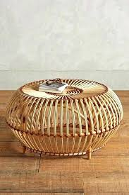 Wicker Storage Ottoman Coffee Table Rattan Ottoman Coffee Table Wicker Storage Ottoman Coffee