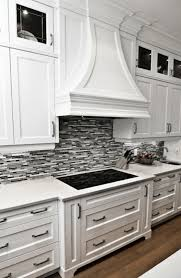 Kitchen Backsplash Photos White Cabinets by Gorgeous Kitchen With Crisp White Cabinetry Marble Countertops