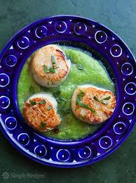 Asparagus Dishes Main Course - seared scallops with asparagus sauce recipe simplyrecipes com
