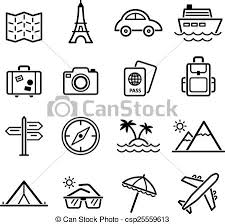 travel symbols images Travel symbols and tourism signs vector illustration jpg