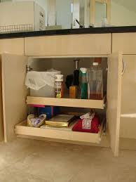 pull out drawers for bathroom vanity pull out shelving for