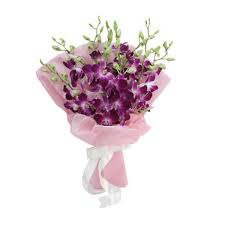 purple orchid flower purple orchid flowers bouquet buy gifts online