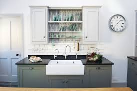 grey kitchen cupboards with black worktop bespoke shaker style kitchens kingham surrey