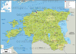 Estonia On The World Map by Geoatlas Countries Estonia Map City Illustrator Fully