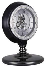 horloge sur le bureau horloge de bureau noir avec engrenages luxueuse retro steunk