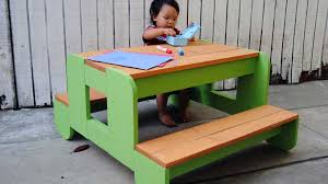 Free Plans For Building A Picnic Table by How To Build A Kids Picnic Table