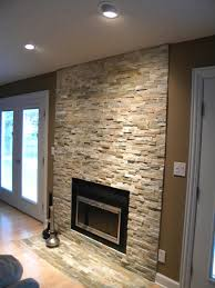 stack stone fireplace surround pinteres love this stone veneer fireplace
