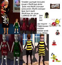 m m halloween costume mod the sims halloween costumes for all ages