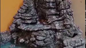 table top water fall tabletop waterfall made with thermocol best water fall youtube