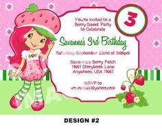 printable birthday invitations strawberry shortcake custom printable strawberry shortcake invitations by theposhkids