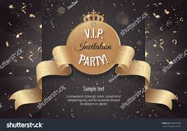 Invitation Cards Design With Ribbons Vip Party Premium Invitation Card Poster Stock Vector 396235738