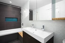 Grey Mosaic Bathroom Vancouver Black Bathroom Vanity Contemporary With Gray Mosaic Tile
