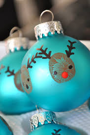 little bit funky 20 minute crafter reindeer thumbprint ornaments