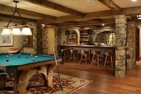 rustic basement bar ideas basement traditional with stone columns