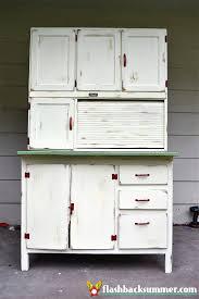 antique kitchen cabinet with flour bin a hoosier cabinet makeover flashback summer