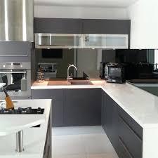 miroir cuisine credence en miroir pour cuisine cracdence de cuisine miroir noir 6mm