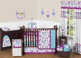 Teal And Purple Crib Bedding Gorgeous Purple Crib Bedding Pattern All Modern Home Designs