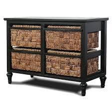 Horizontal Storage Cabinet B59107 4 Basket Horizontal Storage Cabinet Sea Winds Trading