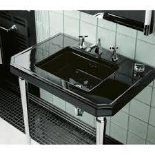 Console Bathroom Sinks K3020 7 Kathryn Console Bathroom Sink Black At Fergusonshowrooms Com