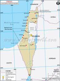 Negev Desert Map Latitude And Longitude Map