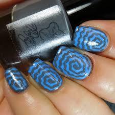 gray u0026 blue swirl nail art mama hearts polish