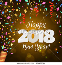 new year wish card happy new year 2018 greeting card stock illustration 754475734