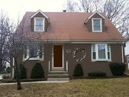 exterior paint colors with brown roof rustic u2014 jessica color