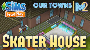 sims freeplay skater house original house design youtube