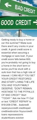 Bad Credit Meme - bad credit good credit getting ready to buy a home or car this