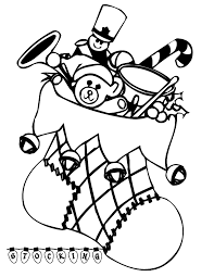 printable coloring pages christmas stocking present christmas