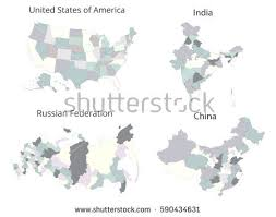 map usa russia map usa russia india china vector stock vector 590434631
