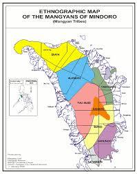 san jose mindoro map mangyan groups