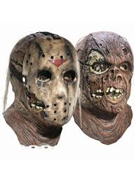 jason overhead latex mask with removable hockey mask deluxe