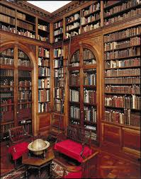 home library decorating ideas stunning scroll shaped red acrylic