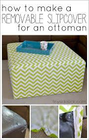 diy slip covered ottoman