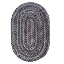 Braided Throw Rugs Braided Oval 3 X 5 Area Rugs Rugs The Home Depot