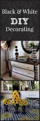 diy black and white decorating ideas home decor