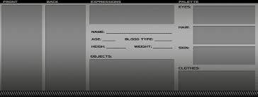 sci fi character profile template by nekomakino on deviantart