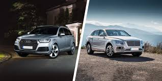 audi jeep 2016 bentley bentayga vs audi q7 carwow