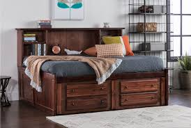 Pictures Of Trundle Beds Sedona Full Roomsaver Bed W 2 Drawer Captains Trundle Living Spaces